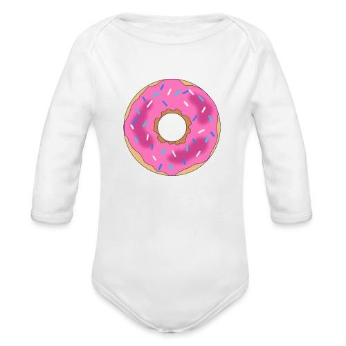 Donut - Organic Long Sleeve Baby Bodysuit