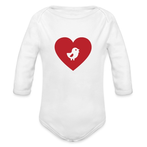 Heart Chick - Organic Long Sleeve Baby Bodysuit