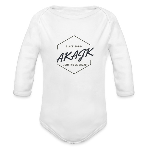 the geometric JK Squad - Organic Long Sleeve Baby Bodysuit