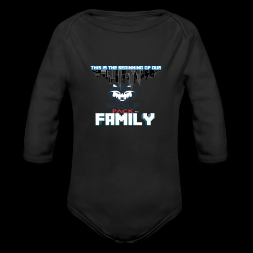 We Are Linked As One Big WolfPack Family - Organic Long Sleeve Baby Bodysuit