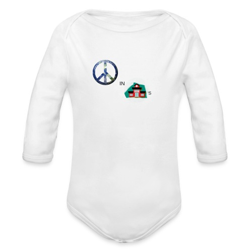 Peace In Schools - Organic Long Sleeve Baby Bodysuit