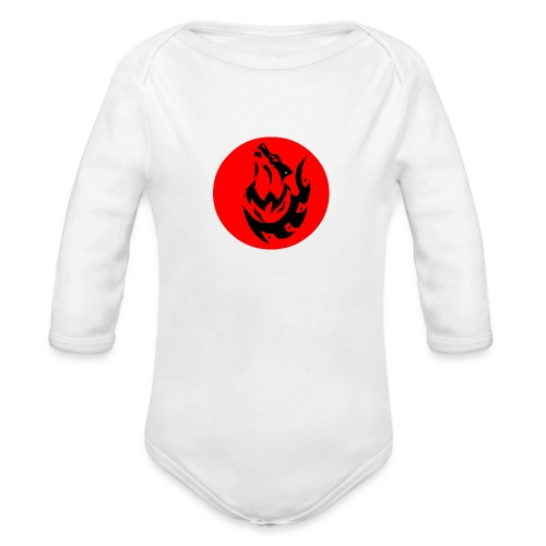 Wolf Logo - Organic Long Sleeve Baby Bodysuit