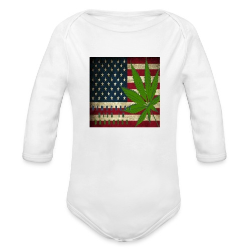 Political humor - Organic Long Sleeve Baby Bodysuit