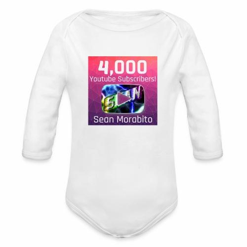 4000 Subs edited - Organic Long Sleeve Baby Bodysuit