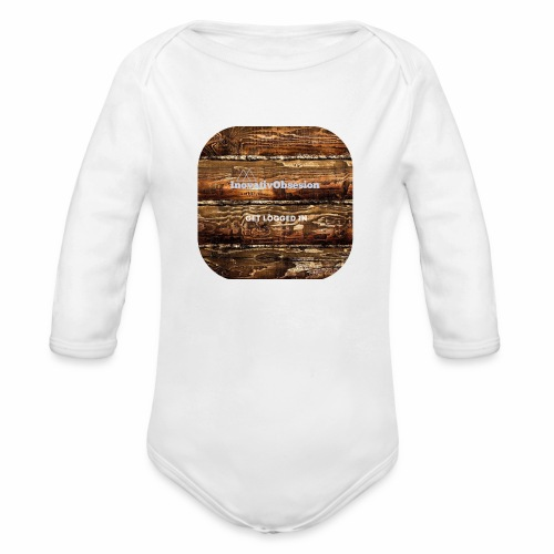 "InovativObsesion ""LOGGED IN"" apparel - Organic Long Sleeve Baby Bodysuit"