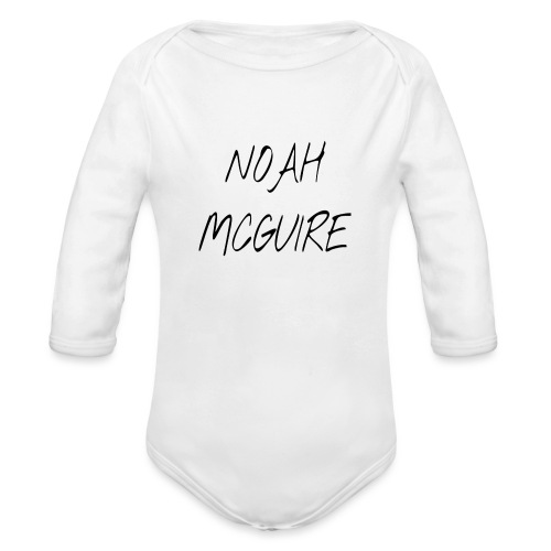 Noah McGuire Merch - Organic Long Sleeve Baby Bodysuit