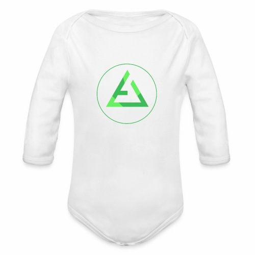crypto logo branding - Organic Long Sleeve Baby Bodysuit