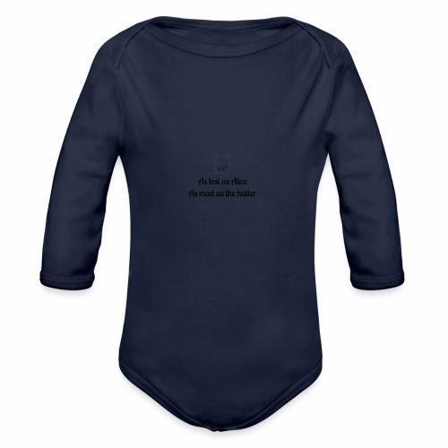 Alice in wonderland - Organic Long Sleeve Baby Bodysuit