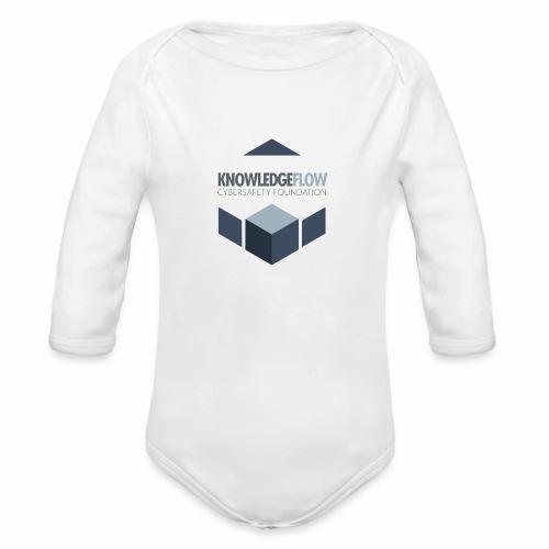 KnowledgeFlow Cybersafety Foundation - Organic Long Sleeve Baby Bodysuit
