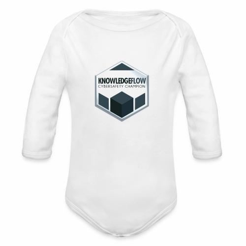 KnowledgeFlow Cybersafety Champion - Organic Long Sleeve Baby Bodysuit