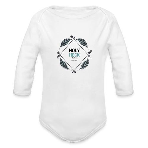 Holy Heck Boy - Organic Long Sleeve Baby Bodysuit