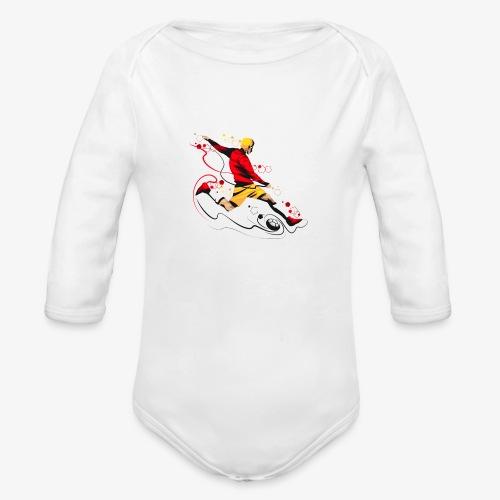 Soccer shirt design - Organic Long Sleeve Baby Bodysuit
