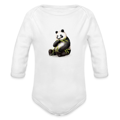 Hungry Panda - Organic Long Sleeve Baby Bodysuit