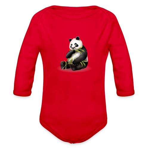 Hungry Panda - Organic Long Sleeve Baby Bodysuit