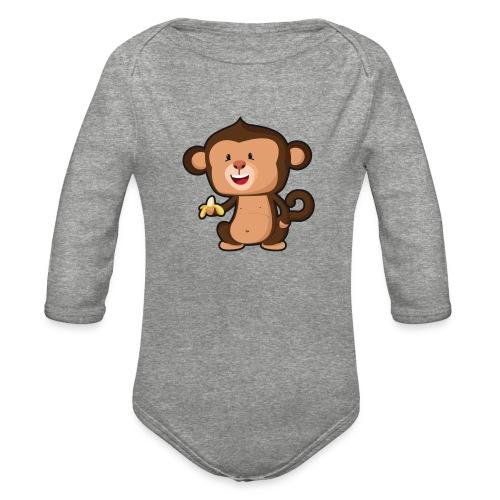 Baby Monkey - Organic Long Sleeve Baby Bodysuit