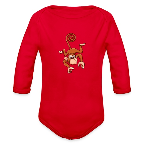 Cheeky Monkey - Organic Long Sleeve Baby Bodysuit