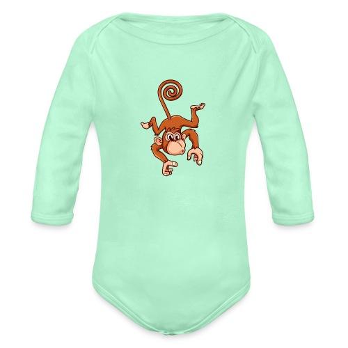 Cheeky Monkey - Organic Long Sleeve Baby Bodysuit