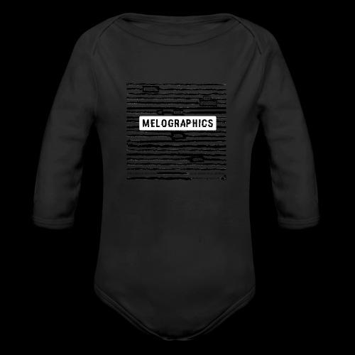 MELOGRAPHICS | Blackout Poem - Organic Long Sleeve Baby Bodysuit