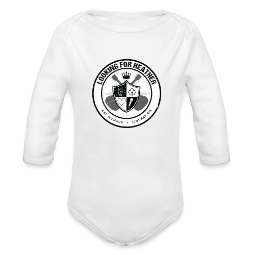 Looking For Heather - Crest Logo - Organic Long Sleeve Baby Bodysuit