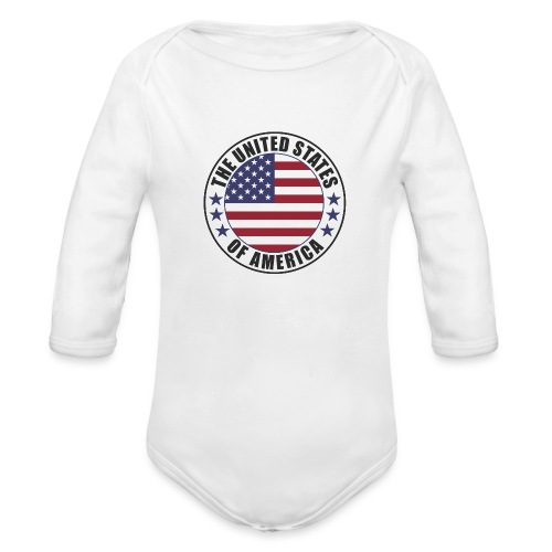 The United States of America - USA - Organic Long Sleeve Baby Bodysuit