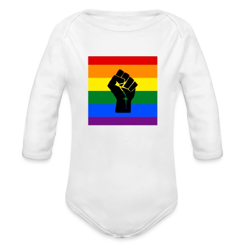 BLM Pride Rainbow Black Lives Matter - Organic Long Sleeve Baby Bodysuit