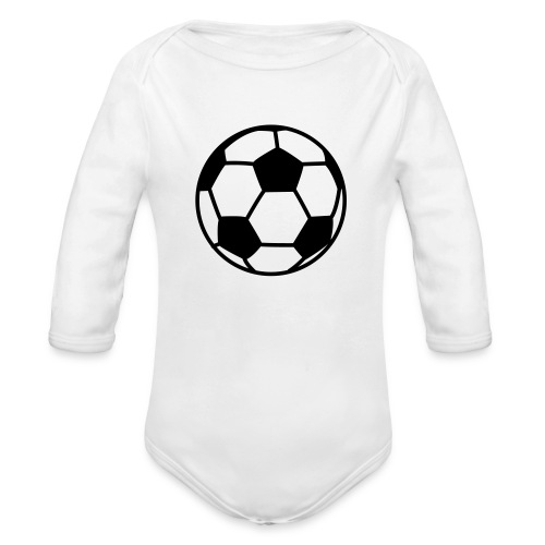 custom soccer ball team - Organic Long Sleeve Baby Bodysuit