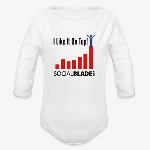 I Like It On Top - Guy - Organic Long Sleeve Baby Bodysuit