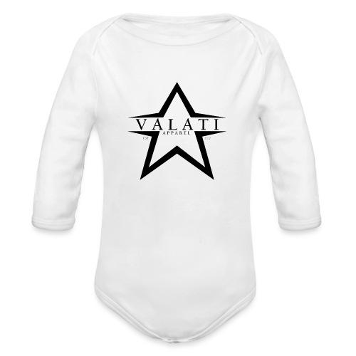 V-STAR Black - Organic Long Sleeve Baby Bodysuit