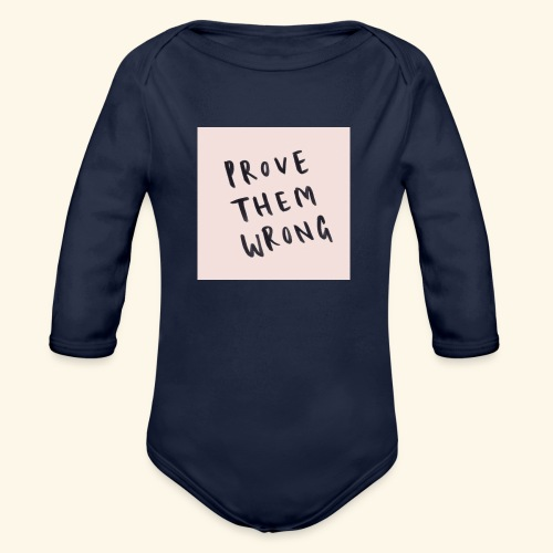 show em what you about - Organic Long Sleeve Baby Bodysuit