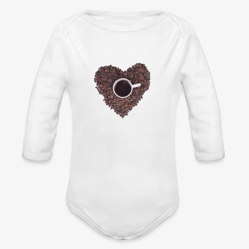 I Heart Coffee Black/White Mug - Organic Long Sleeve Baby Bodysuit