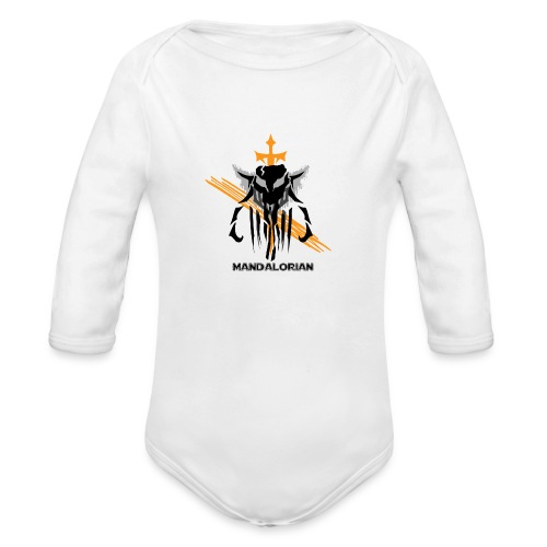 Mandalorian Logo - Organic Long Sleeve Baby Bodysuit