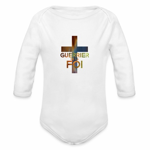 WARRIOR OF FAITH - Organic Long Sleeve Baby Bodysuit