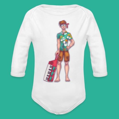 Wendal The Weed Wizard - Organic Long Sleeve Baby Bodysuit