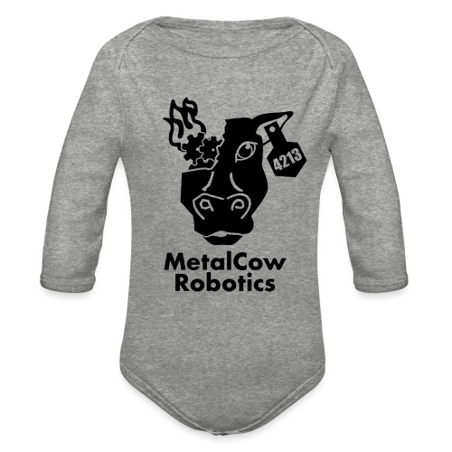MetalCow Solid - Organic Long Sleeve Baby Bodysuit