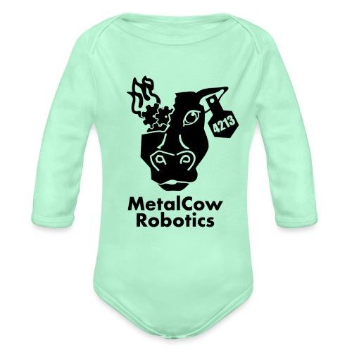 MetalCow Solid - Organic Long Sleeve Baby Bodysuit