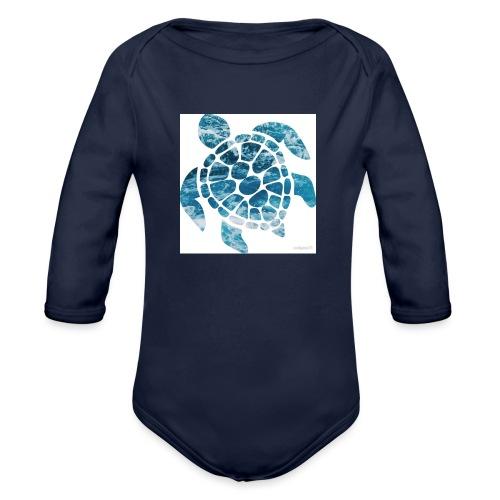 turtle - Organic Long Sleeve Baby Bodysuit