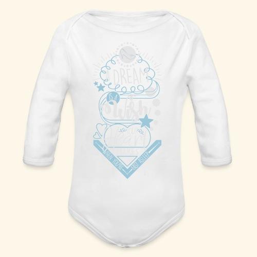 A Dream Is A Wish - Organic Long Sleeve Baby Bodysuit