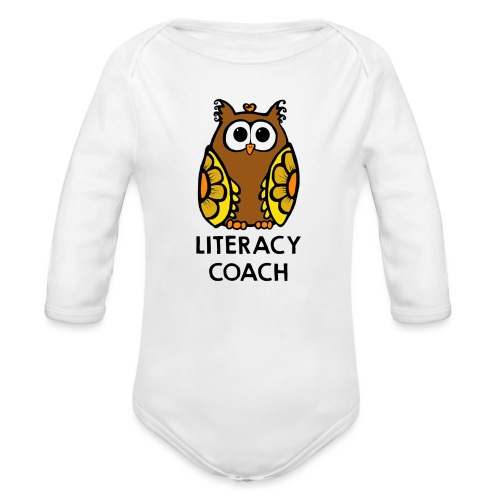 literacy coach png - Organic Long Sleeve Baby Bodysuit