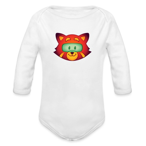 Foxr Head (no logo) - Organic Long Sleeve Baby Bodysuit