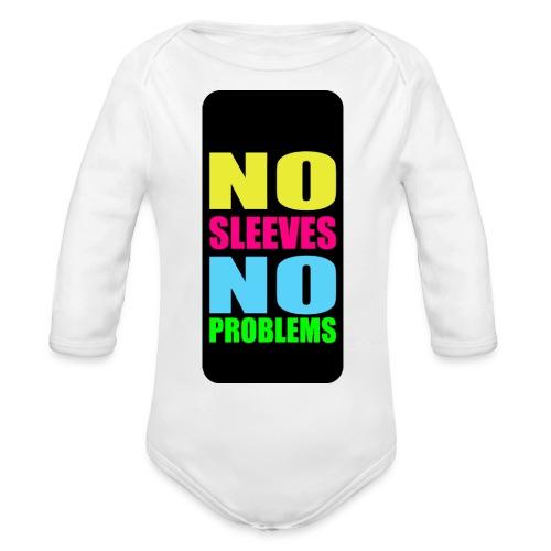 neonnosleevesiphone5 - Organic Long Sleeve Baby Bodysuit