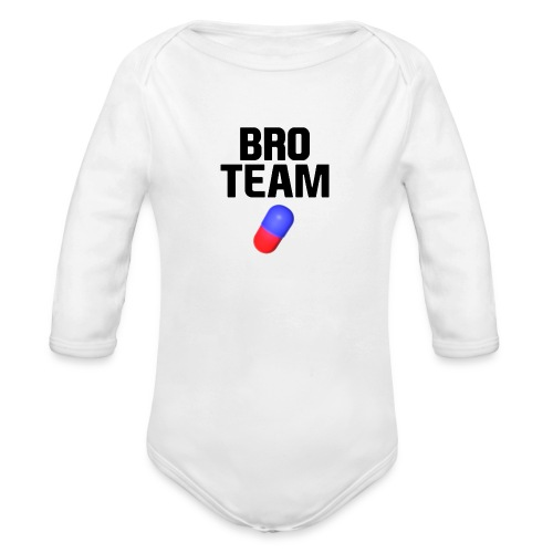 Bro Team Black Words Logo Women's T-Shirts - Organic Long Sleeve Baby Bodysuit