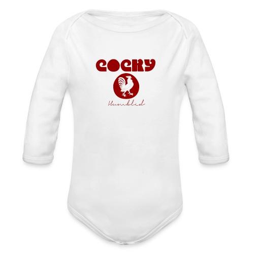 Red Humble Cock 1 - Organic Long Sleeve Baby Bodysuit