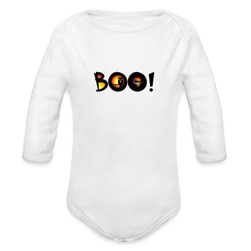 Happy Halloween Boo 9 - Organic Long Sleeve Baby Bodysuit