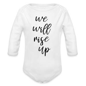 rise up - Long Sleeve Baby Bodysuit