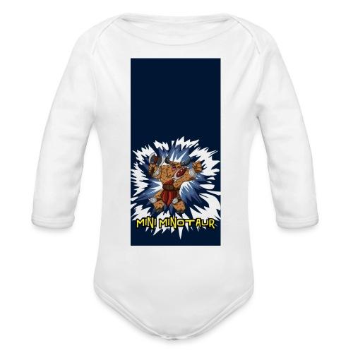 minotaur5 - Organic Long Sleeve Baby Bodysuit