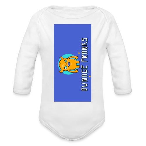 logo iphone5 - Organic Long Sleeve Baby Bodysuit