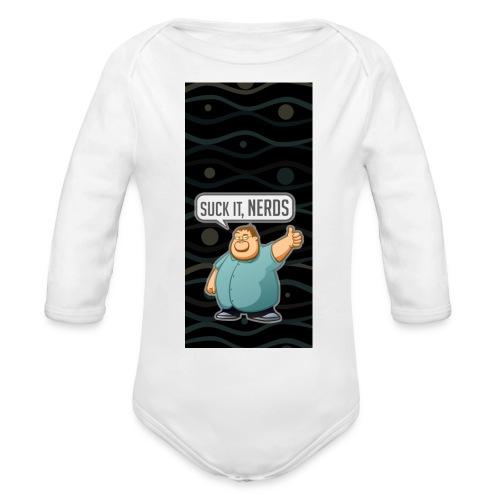 nerdiphone5 - Organic Long Sleeve Baby Bodysuit