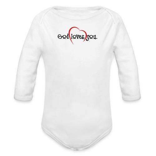 God Loves You 103 - Organic Long Sleeve Baby Bodysuit
