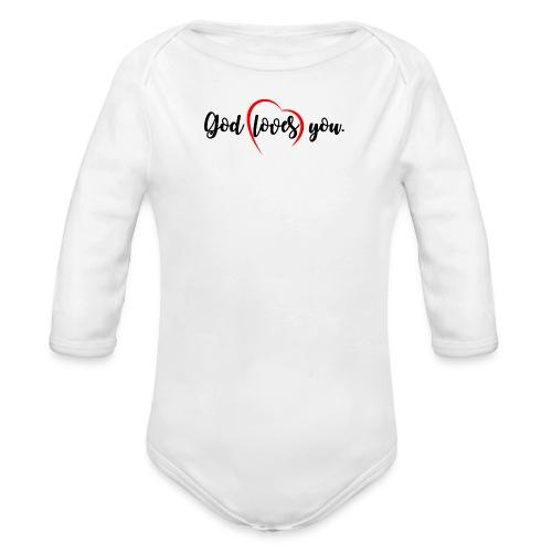 God Loves You 102 - Organic Long Sleeve Baby Bodysuit