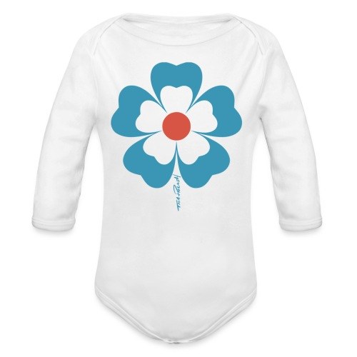 flower time - Organic Long Sleeve Baby Bodysuit